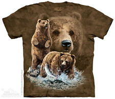 Find 10 Grizzly Bears The Mountain Adult & Youth T-Shirts