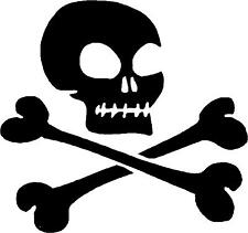 "Skull and Crossbones Decal 3.75""x4"" choose color!  vinyl sticker SC6"