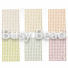 Busy Bead Self Adhesive Diamante Stick On Pearls - Multi-Choice Colour & Size
