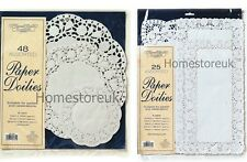 ASSORTED PAPER DOILIES DOYLEYS PACK SET CAKE WEDDING TABLE DECORATION WHITE