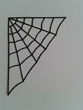 Die Cuts ~ CREEPY SPIDER WEB ~ 4 Colours To Choose From - Packs of 8