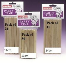 PARTY TIME ICE TOFFEE LOLLY STICKS POP CANDY T APPLE LOLLYPOP WOODEN WOOD FLAT