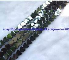 6,8,10mm Hematite Heart-shaped Gemstone Beads 15""