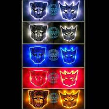 LED Transformers Autobot Decepticon 3D Logo Emblem Badge Decal Car Sticker New