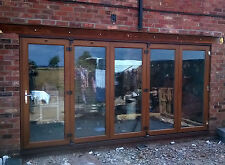 Light Oak uPVC 2 Leaf Bi Folding Doors - Made to Measure