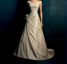 Champagne A-line Bridesmaid Wedding Dress Prom Ball Evening Gown Size 6-16