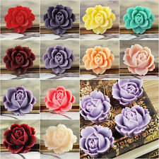 Resin Cabochons Flower Flatback vintage stly cameo Peony for DIY RINGS RB0505