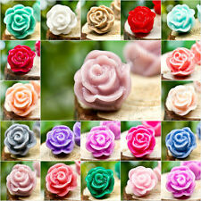 DIY Resin 12X12 ROSE FLOWER Cabochons Vintage Cameo Wholesale for rings colorful