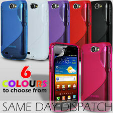 S LINE WAVE GEL SKIN CASE COVER & SCREEN GUARD FOR SAMSUNG GALAXY W I8150