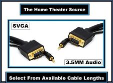 S-VGA/SVGA)&(3.5mm Stereo Jack)PC Computer Laptop Monitor Male/M Cable Wire Cord