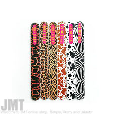 "Princessa Premium 6.5"" inch Animal Print Emery Board Nail File Choose One"