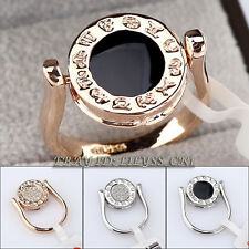Fashion Double Face Ring Zodiac Constellation Horoscope 18KGP Crystal