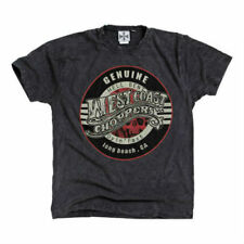 WEST COAST CHOPPERS MENS T-SHIRT AUTHORIZED VINTAGE GREY HARLEY CHOPPER RIDERS