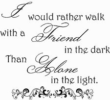 Friend Friendship Friends Quote Saying Wall Art Sticker Decal Best Pals Present