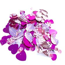 Mixed Flat, Cup and Shaped Sequins - 100+ Sparkles per Bag, Choice of 12+ Shades