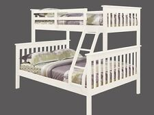 Twin over Full Bunk Bed - White Finish Bunkbed - FREE Shipping