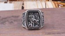 925 Thai Silver Men's Sterling Jewelry Thick Lion Ring