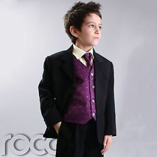 BOYS cadburys PURPLE PAGEBOY WEDDING SUIT 3M-14YRS