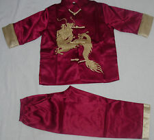 BN 2 PIECE CHINESE BOY COSTUME 2 COLOURS TOP LINED 5-6 AGE FAST DELIVERY