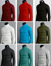 k mens thermal cotton stretch turtle polo neck turtleneck jumper sweater shirts