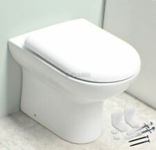 Compact Bathroom Cloakroom Back to Wall Toilet Pan WC BTW Short Projection WC