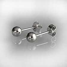 925 Sterling Silver 4mm Round Ball Stud Earrings