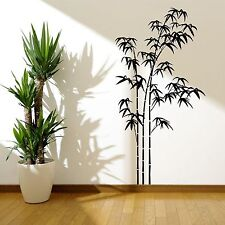 BAMBOO TREE GRASS WILD JUNGLE WALL STICKER DECAL MURAL STENCIL VINYL TRANSFER