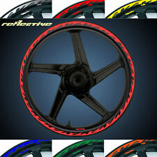 MOTORCYCLE RIM STRIPE WHEEL DECAL TAPE REFLECTION FLAME STICKER