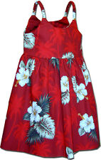 Hawaiian Toddler Dress Hibiscus Islands 130-2798 NEW 100% Cotton Made in Hawaii.