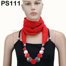 NEW Fashion Pendant  Scarf  Necklace Shawl Jewelry Decoration 51 Selections D