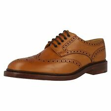 MENS LOAKE CHESTER 2 TAN LEATHER UPPER LACE UP SHOES FITTING F