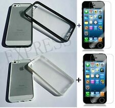 Slim Matte Hard Case Cover TPU Frame For iPhone 5,5s + Free Screen Protector