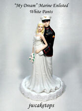 Marine Enlisted USMC Military Wedding Cake Top Free Rank ! 49MEW1