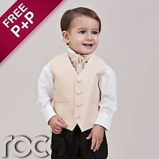 Boys Baby Gold Waistcoat Suit Wedding Pageboy Christening Communion Suits
