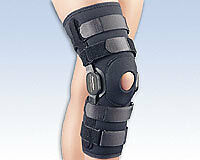 Knee Brace - Composite, Polycentric Hinged Knee Brace - FLA Orthopedics - NEW