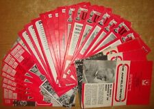 Liverpool Home Programme's 1972-1977 Div 1 + Cups