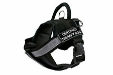 Fully Chest Padded Dog Harness with Velcro Patches: CERTIFIED THERAPY DOG