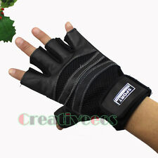 Leather Sheepskin and Mesh fabric Motorcycle Bike Car Cycling Sports Gloves New