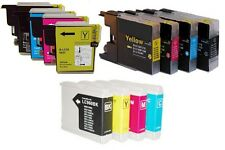 8 COMPATIBLE INK CARTRIDGES FOR BROTHER DPC & MFC PRINTERS. CHIPPED, READY TO GO