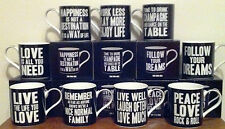 9 différents boxed paroles de sagesse tasses (fine china)