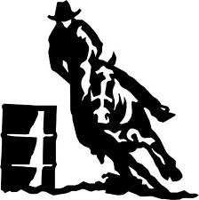 "Barrel Race Horse Cowboy  Decal 5.75""x5.75"" choose color!  vinyl sticker"