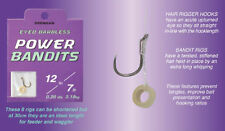 New Drennan Eyed Barbless Power Bandits Hooks to Nylon for Coarse Fishing