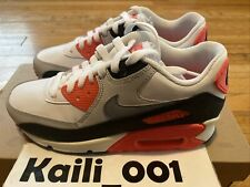 Nike Air Max 90 (GS) Infrared OG Neon Lime JD Hulk Neon Leather B