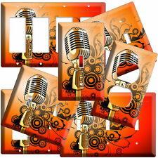 RETRO MICROPHONE LIGHT SWITCH OUTLET WALL PLATE COVER ROOM DECOR FAT ELVIS SHURE