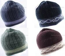 1 Pack Men's Boy Winter Beanie Knit Hat Cap Thick Premium Headwear Pick 1 Color