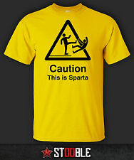 Caution - This is Sparta T-Shirt - New - Direct from Manufacturer