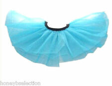 Neon Blue TuTu Hen Party 6 -16 1980's Fancy Dress Costume Night Disco Hen Party