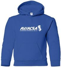 Aviacsa Retro Logo Mexican Airline Hooded Sweatshirt HOODY