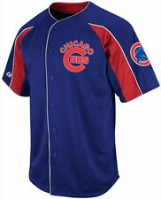 Chicago Cubs MLB Blue Majestic Double Play Jersey Adult Sizes S M L XL 2XL