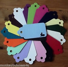 Tag Die Cuts - med. Scallop Tag with Bunny Rabbit Aperture - Easter - Gifts